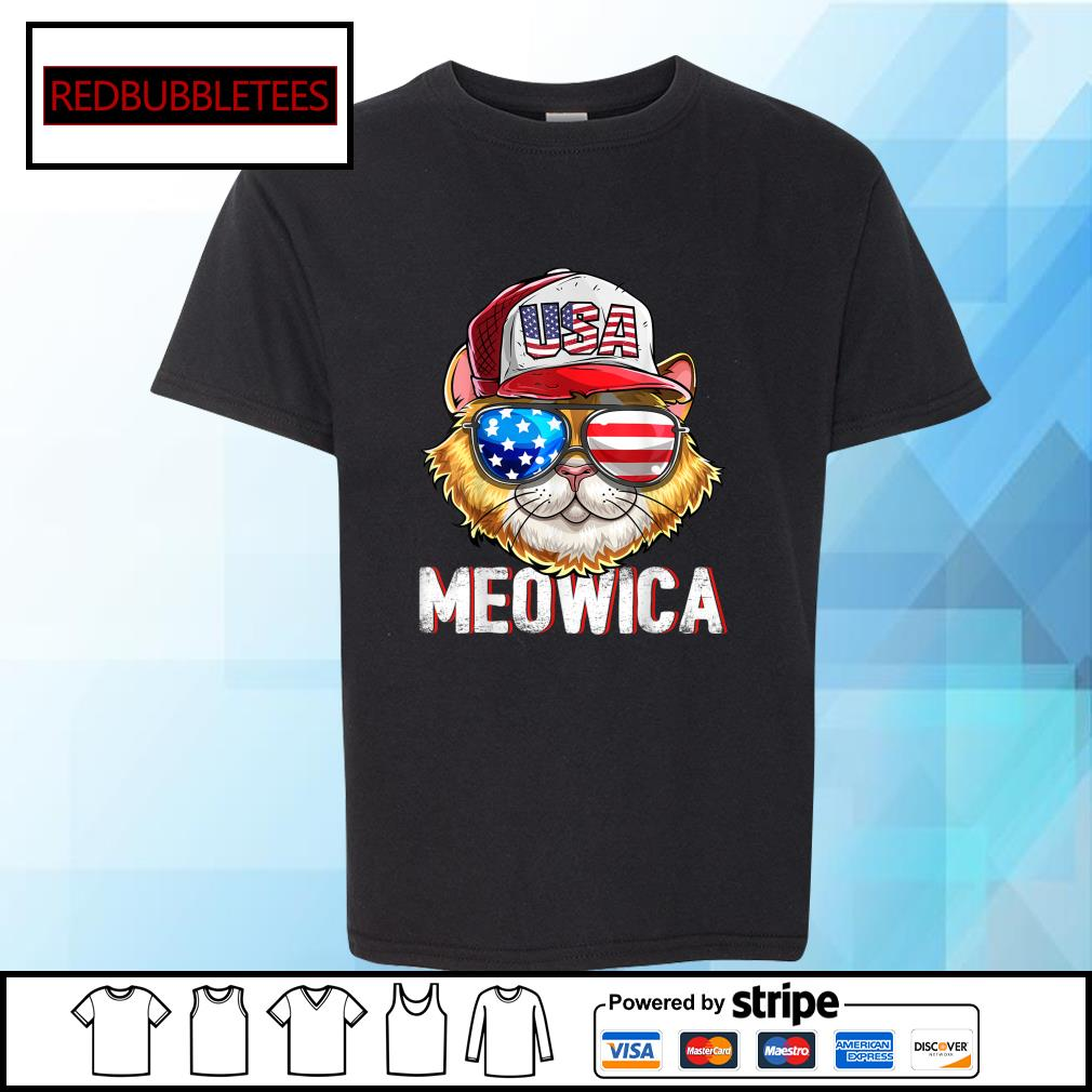 USA Cat Meowica Independence Day 4th Of July s Youth-tee
