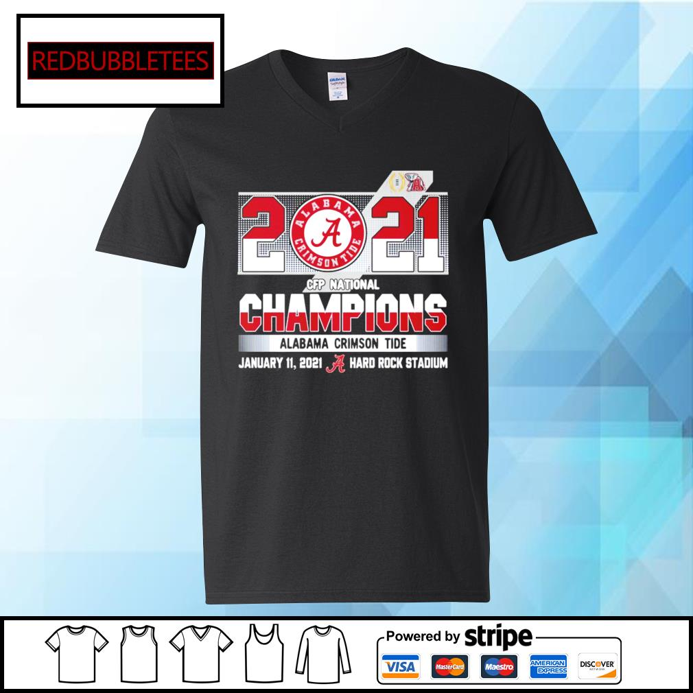 2020 CFP National Champions Alabama Crimson Tide January 11,2021 Hard Rock Stadium s V-neck T-shirt