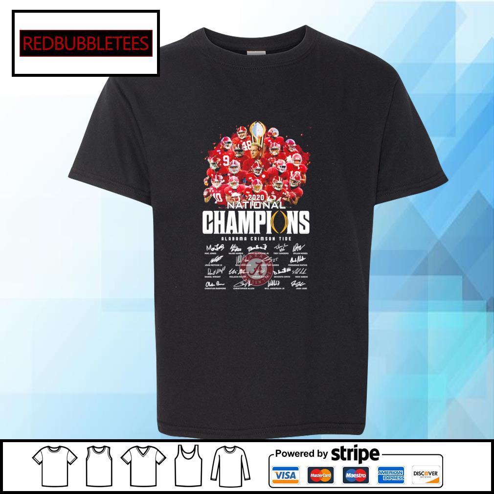 2020 National champions Alabama Crimson Tide signature s Youth-tee