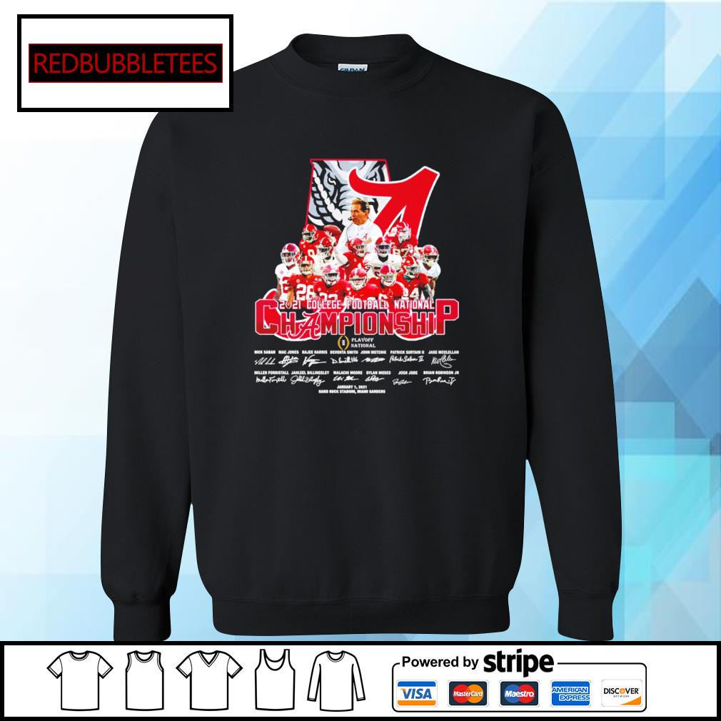 Alabama Crimson Tide 2020 College Football National Championship Playoff National January 1,2021 signature s Sweater