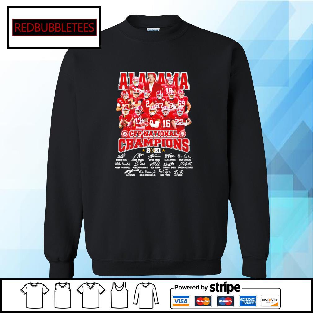 Alabama Crimson Tide CFP national champions 2021 signature s Sweater