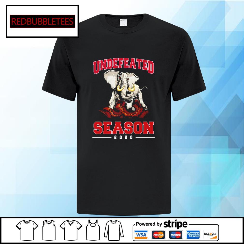 Alabama Crimson Tide undefeated season 2020 elephants shirt