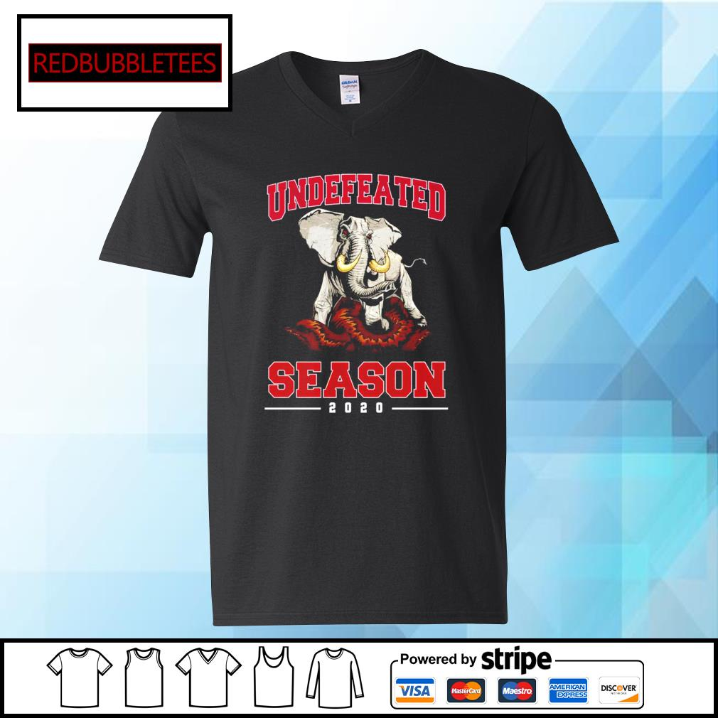 Alabama Crimson Tide undefeated season 2020 elephants s V-neck T-shirt
