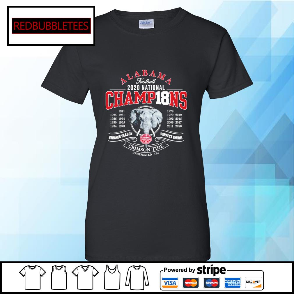 Alabama football 2020 nation champions 1941-2020 strange season perfect ending Crimson Tide s Ladies tee