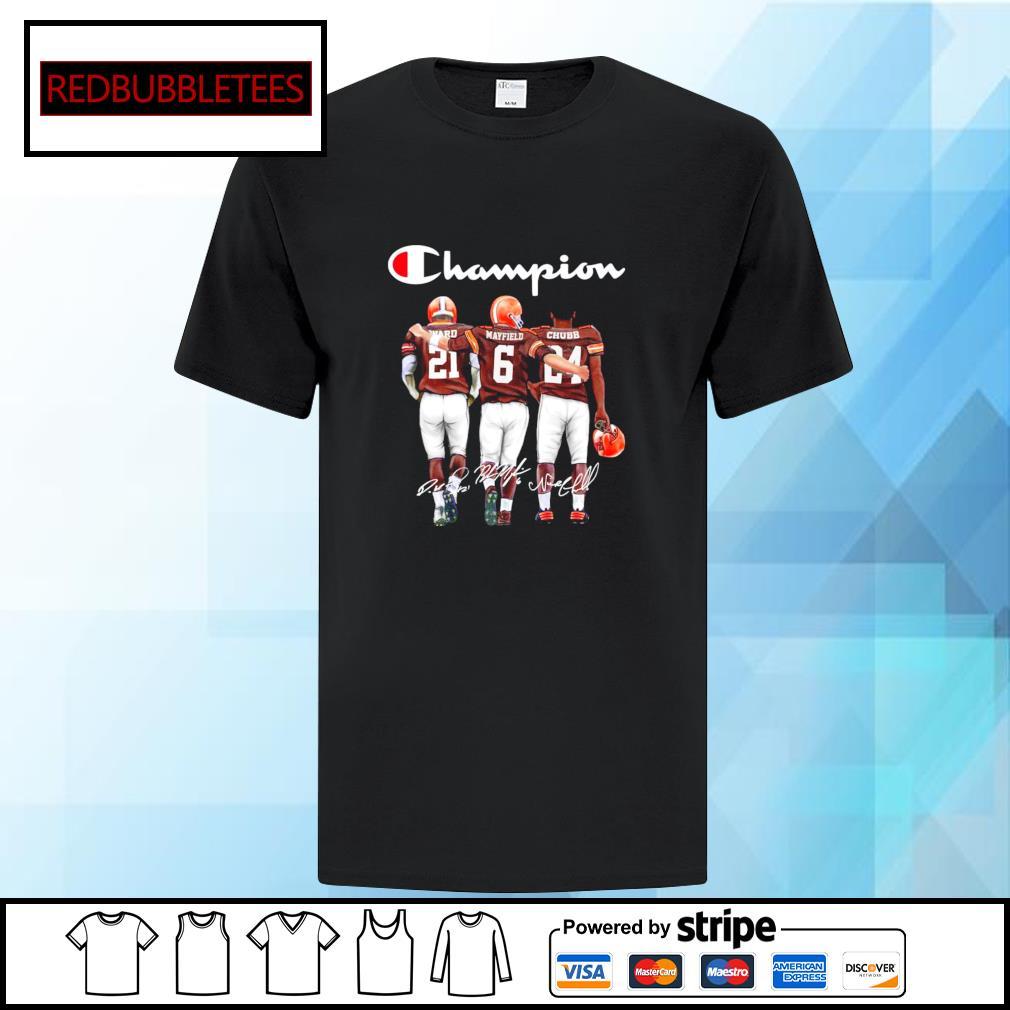 Cleveland Browns champion Ward Mayfield Chubb signature shirt