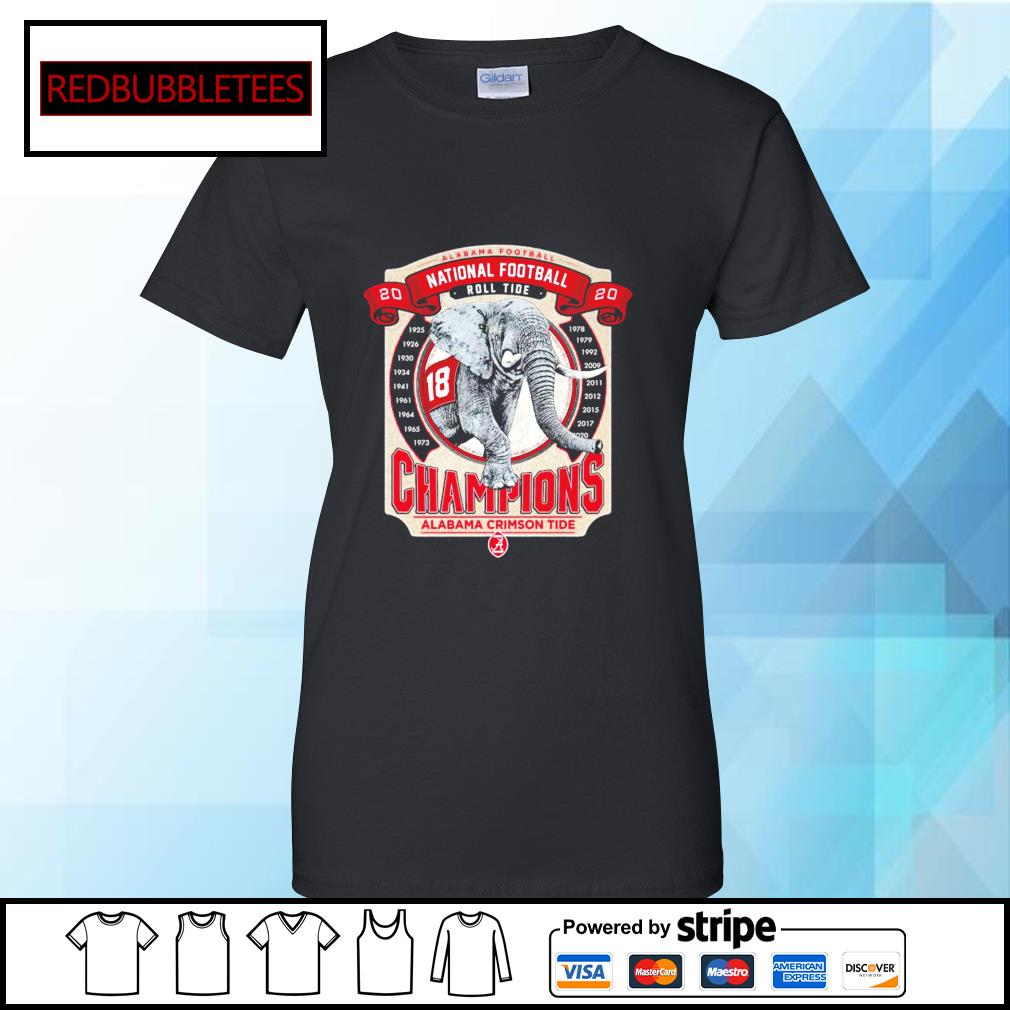 Elephant southeastern Champions Alabama Crimson Tide 2021 s Ladies tee