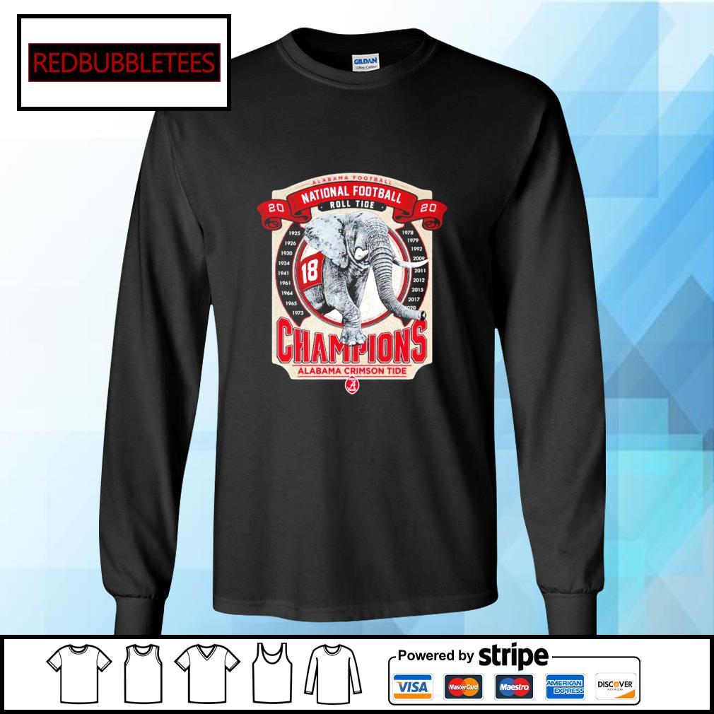 Elephant southeastern Champions Alabama Crimson Tide 2021 s Longsleeve-tee