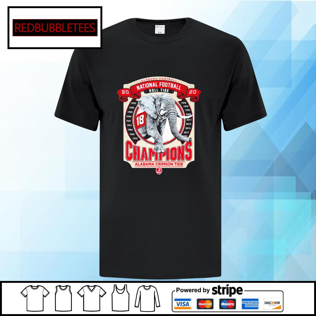Elephant southeastern Champions Alabama Crimson Tide 2021 shirt