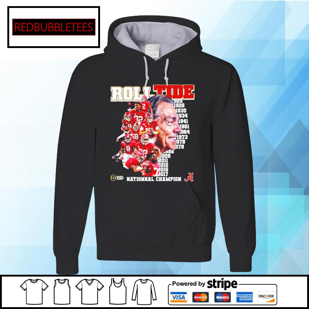 Roll Tide 1925-2017 National champion s Hoodie