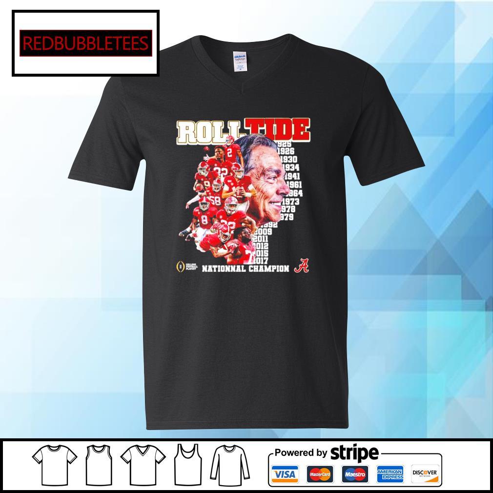 Roll Tide 1925-2017 National champion s V-neck T-shirt