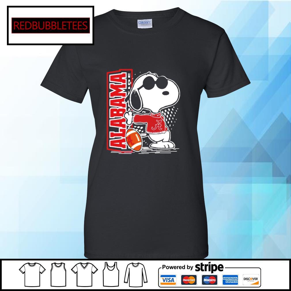 Snoopy Alabama Crimson Tide 52 24 Ohio State NCAA Shirt Ladies tee