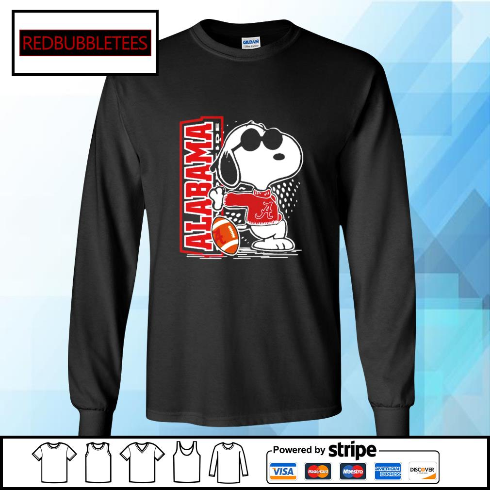 Snoopy Alabama Crimson Tide 52 24 Ohio State NCAA Shirt Longsleeve-tee