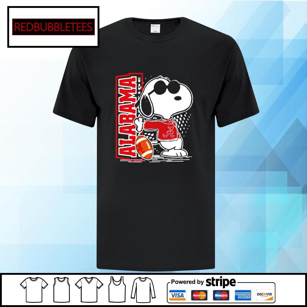 Snoopy Alabama Crimson Tide 52 24 Ohio State NCAA Shirt