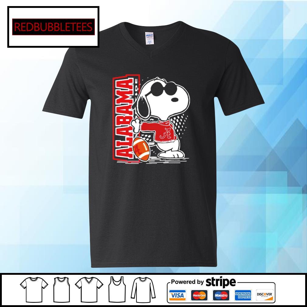 Snoopy Alabama Crimson Tide 52 24 Ohio State NCAA Shirt V-neck T-shirt