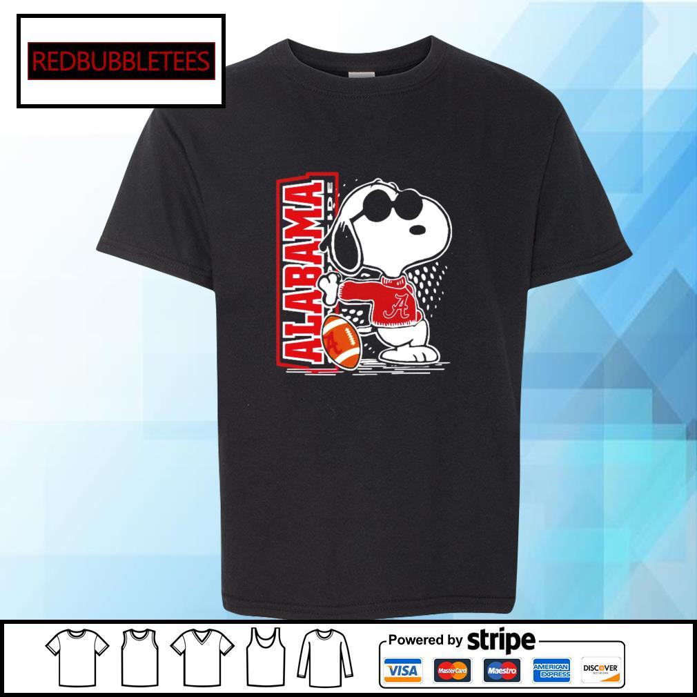 Snoopy Alabama Crimson Tide 52 24 Ohio State NCAA Shirt Youth-tee