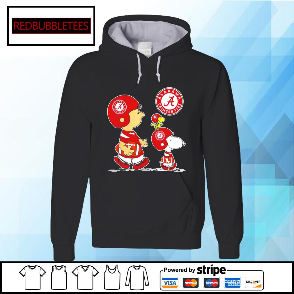 Snoopy and Charlie Brown and Woodstock Alabama Crimson Tide 52 24 Ohio State s Hoodie