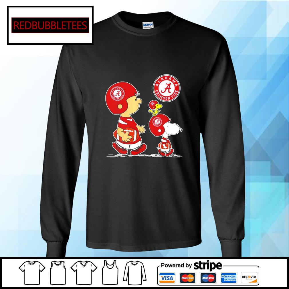 Snoopy and Charlie Brown and Woodstock Alabama Crimson Tide 52 24 Ohio State s Longsleeve-tee