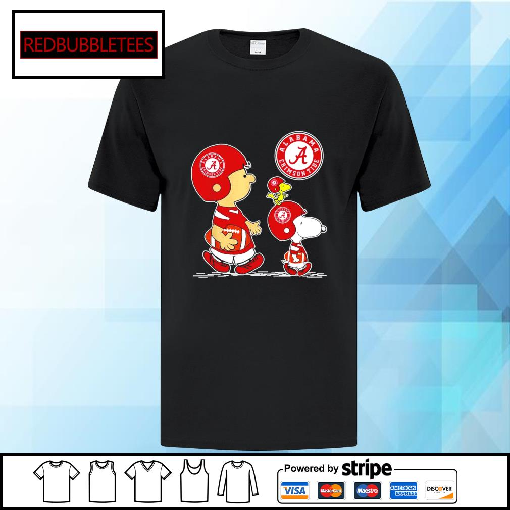 Snoopy and Charlie Brown and Woodstock Alabama Crimson Tide 52 24 Ohio State shirt