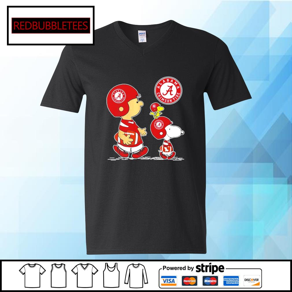 Snoopy and Charlie Brown and Woodstock Alabama Crimson Tide 52 24 Ohio State s V-neck T-shirt