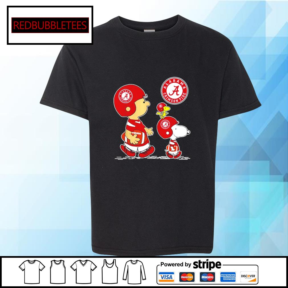 Snoopy and Charlie Brown and Woodstock Alabama Crimson Tide 52 24 Ohio State s Youth-tee