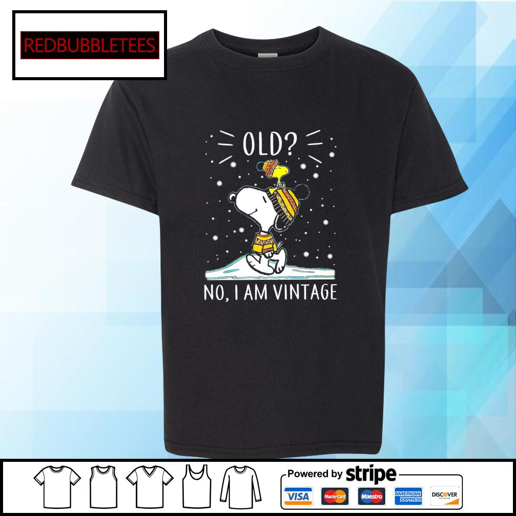 Snoopy and Woodstock old no I am vintage s Youth-tee