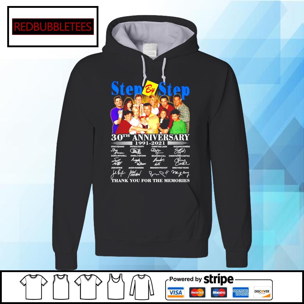 Step By Step 30Th anniversary 1991-2021 signature thank you for the memories s Hoodie