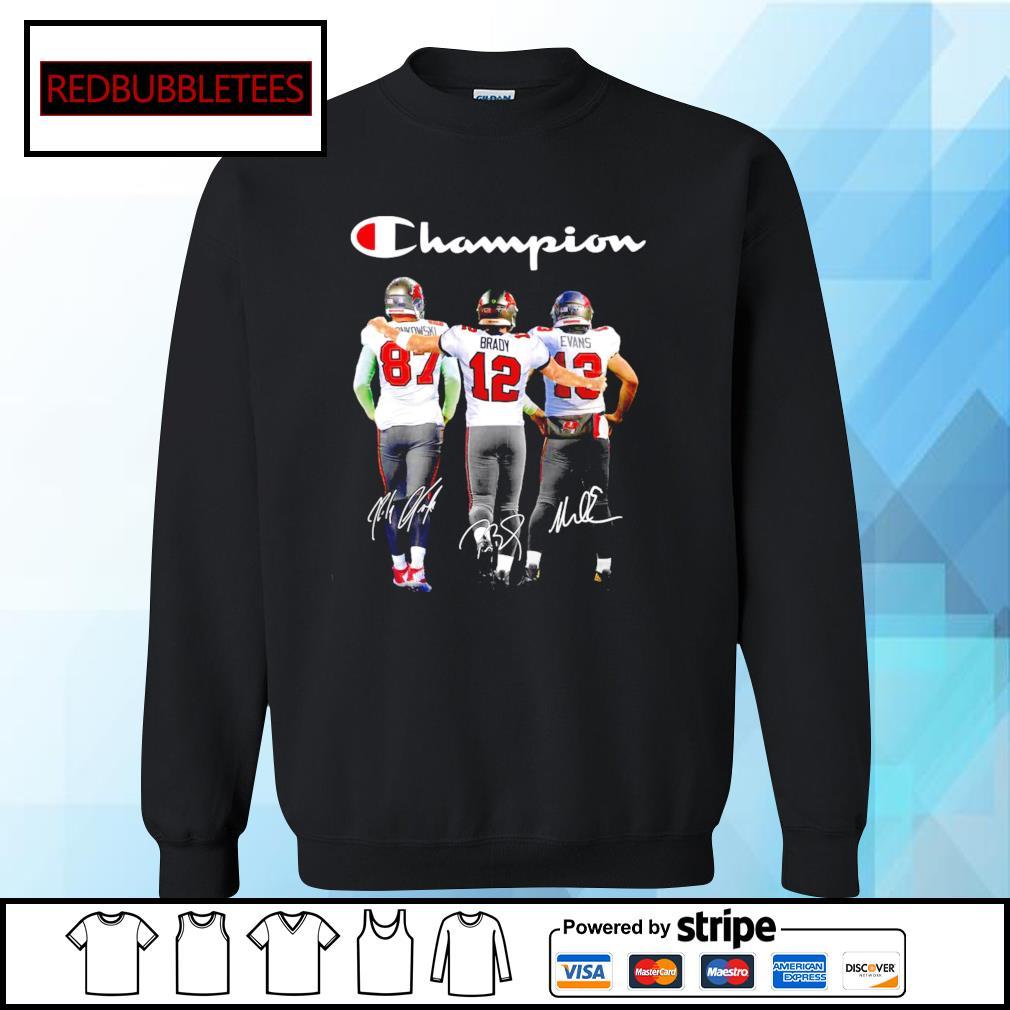 Tampa Bay Buccaneers Rob Gronkowski Tom Brady Mike Evans champion signature s Sweater