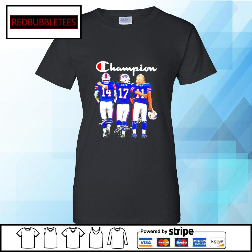 The Buffalo Bills Diggs Allen And Beasley Champions Signatures 2021 s Ladies tee