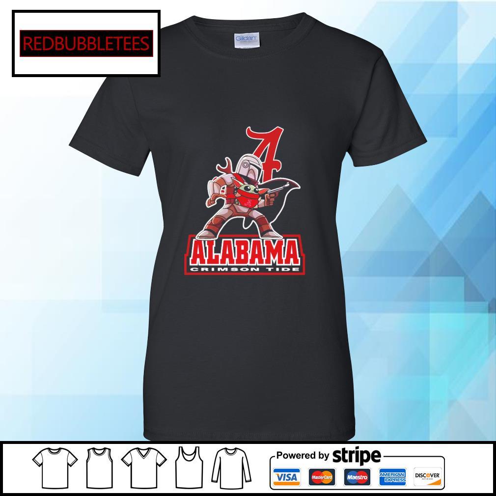 The Mandalorian & Baby Yoda Alabama Crimson Tide NCAA Alabama 52 24 Ohio State Shirt Ladies tee