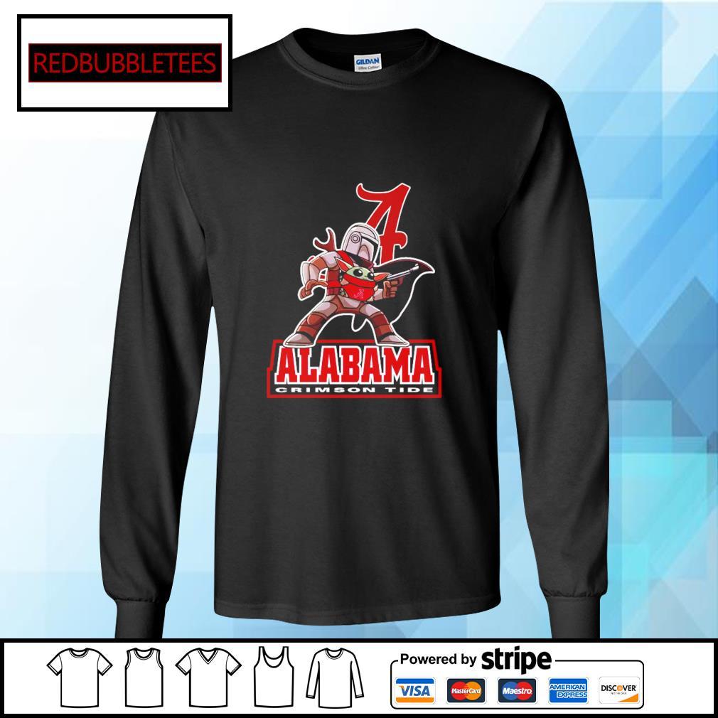 The Mandalorian & Baby Yoda Alabama Crimson Tide NCAA Alabama 52 24 Ohio State Shirt Longsleeve-tee