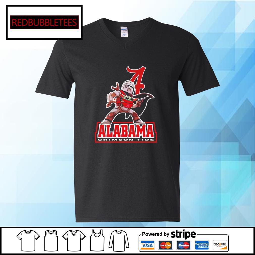 The Mandalorian & Baby Yoda Alabama Crimson Tide NCAA Alabama 52 24 Ohio State Shirt V-neck T-shirt