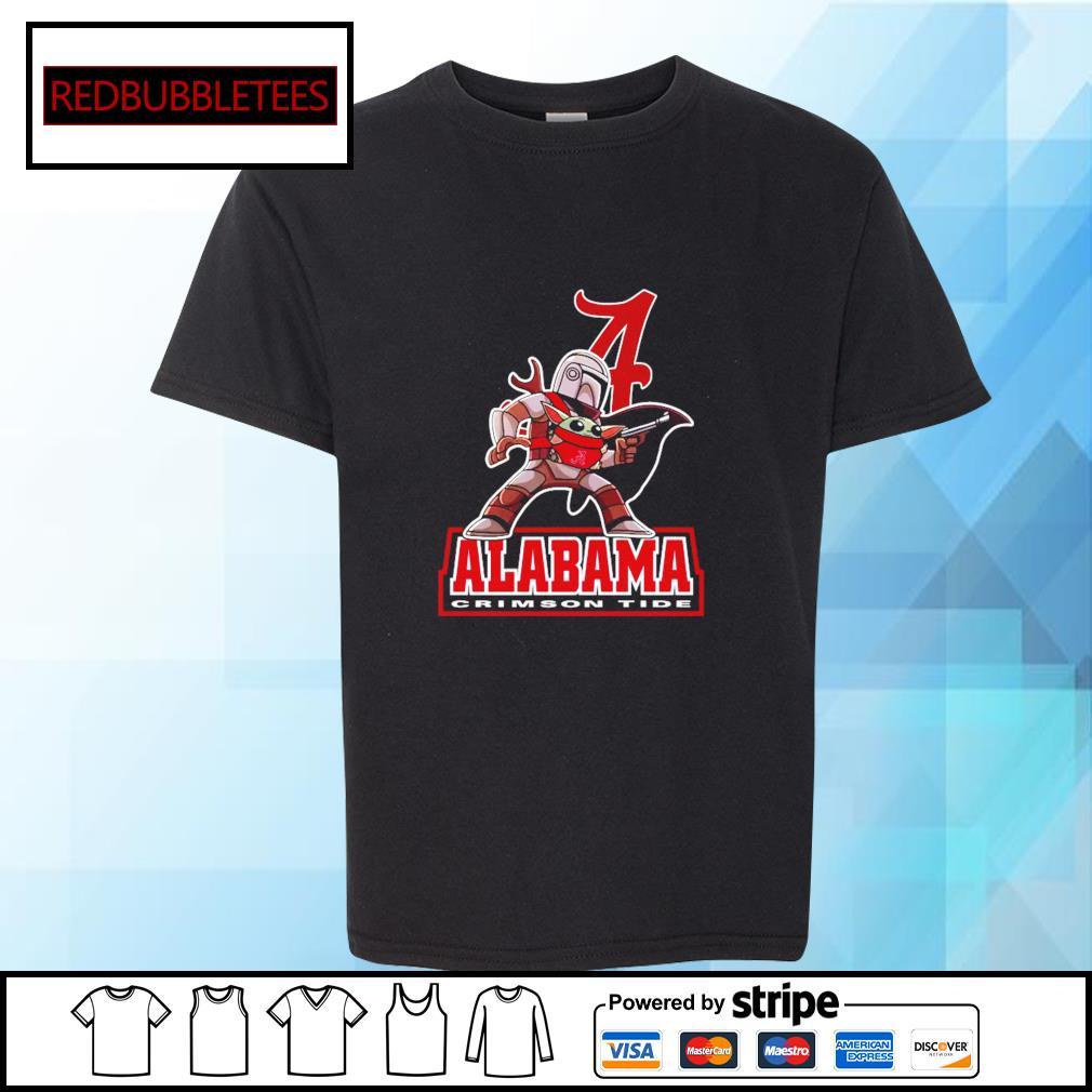 The Mandalorian & Baby Yoda Alabama Crimson Tide NCAA Alabama 52 24 Ohio State Shirt Youth-tee