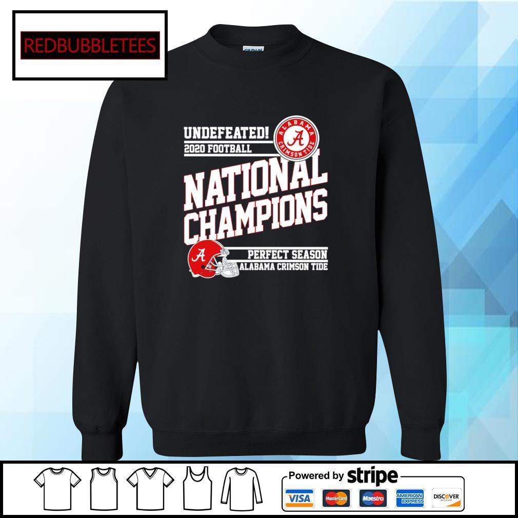 Undefeated 2020 football Alabama Crimson Tide national champions perfect season s Sweater