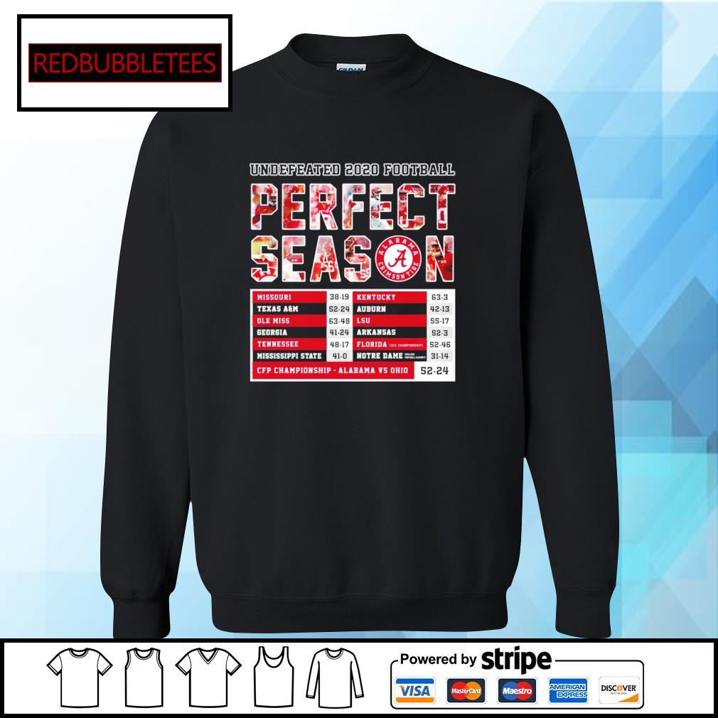 Undefeated 2020 Football Perfect Season CFP Championship Alabama 52 24 Ohio s Sweater