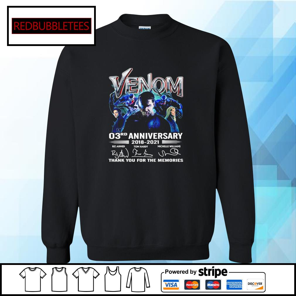 Venom 03Rd anniversary 2018-2021 signature thank you for the memories s Sweater