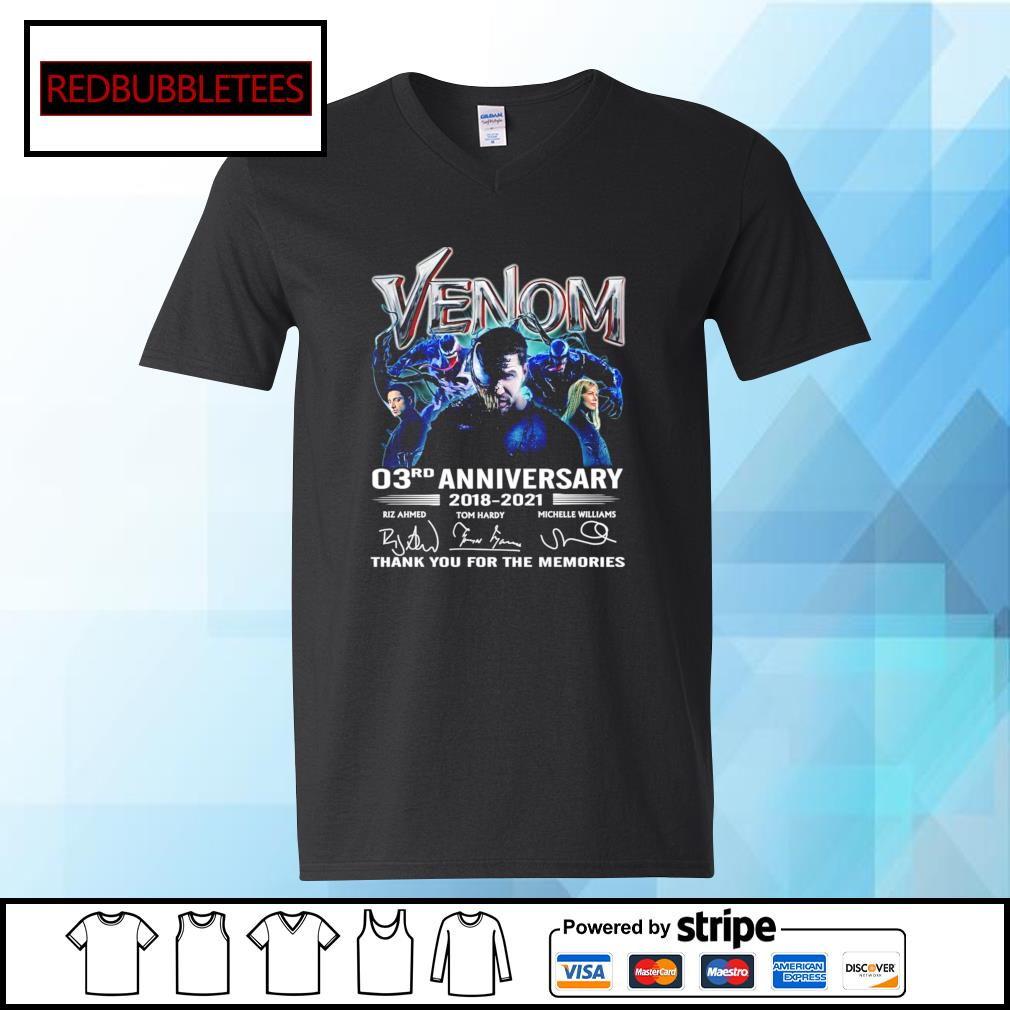 Venom 03Rd anniversary 2018-2021 signature thank you for the memories s V-neck T-shirt
