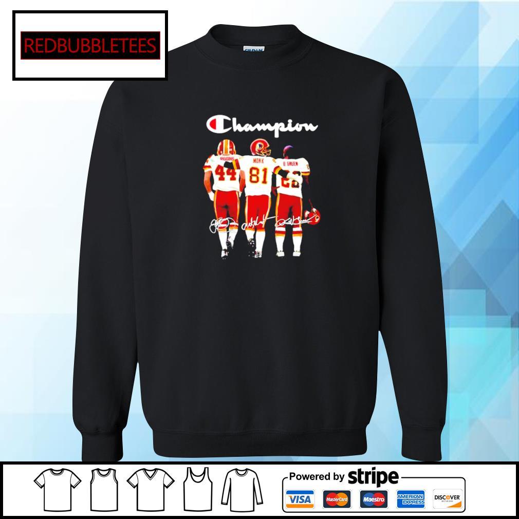 Washington Redskins John Riggins Art Monk Darrell Green signatures s Sweater