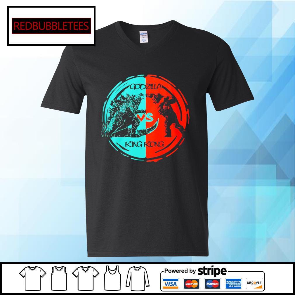 Godzilla vs King Kong s V-neck T-shirt