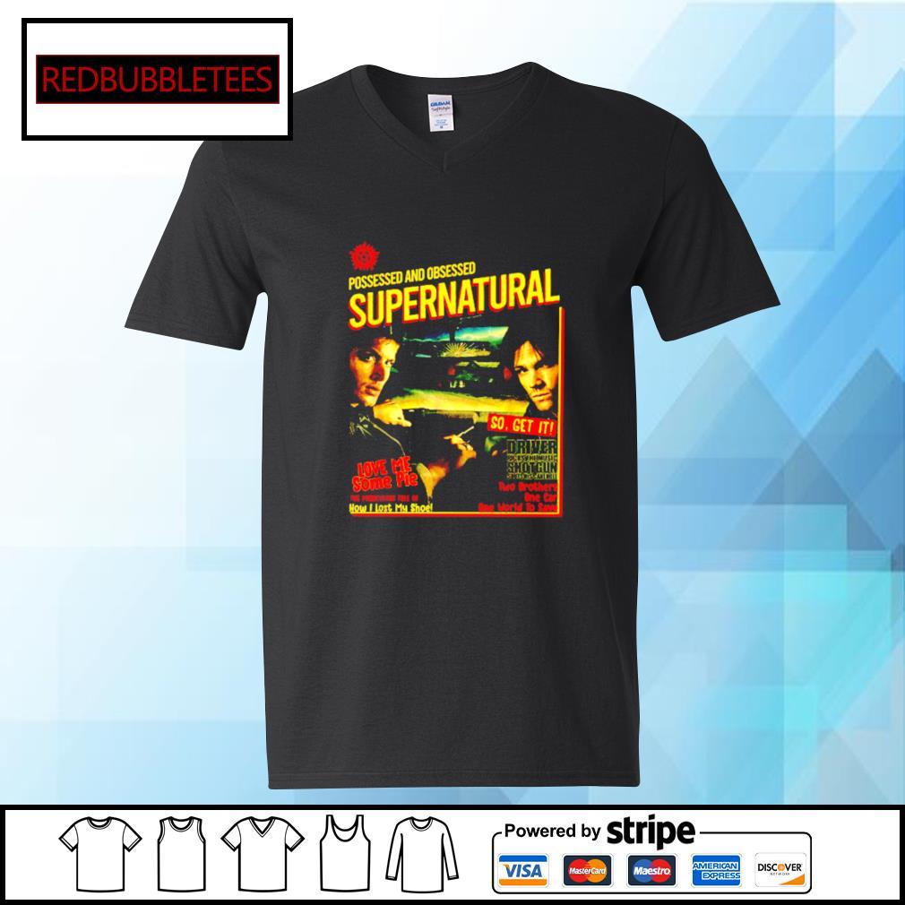 Possessed And Obsessed Supernatural Driver Picks The Music Shotgun s V-neck T-shirt